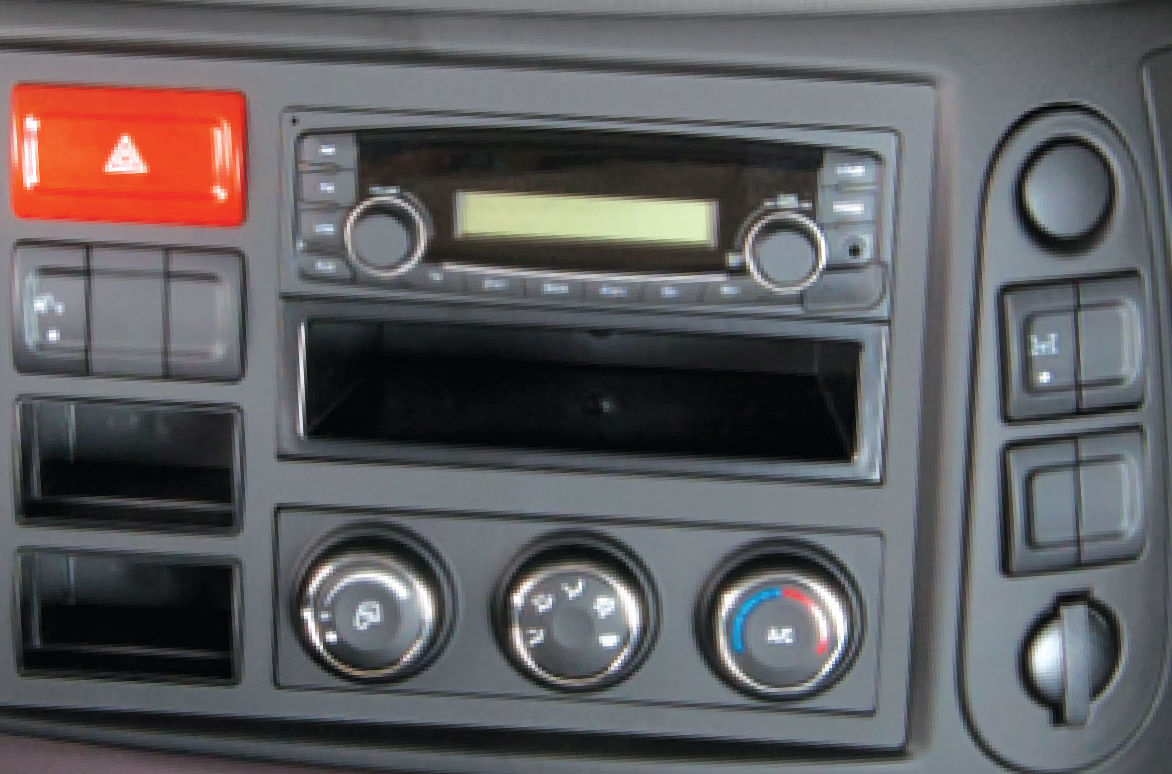 Radio, CD Player and Aircon Controller